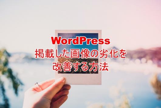 WordPress 掲載した画像の劣化を改善する方法